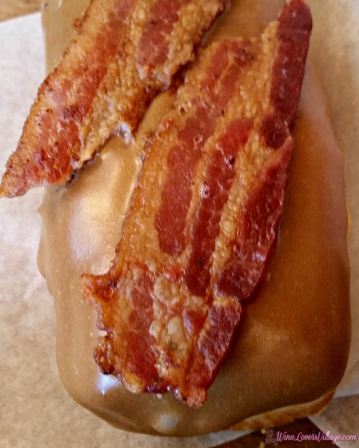 For the sweet tooth brunch lover, a stop at Portland's Voodoo Doughnut for these Maple Bacon donuts.