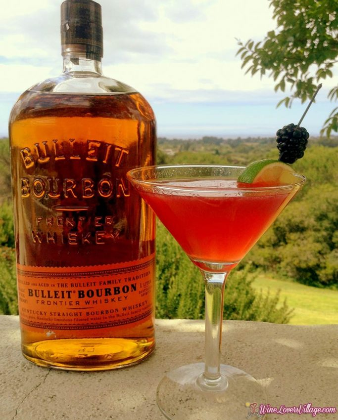 The Black Pearl, bourbon cocktail recipe courtesy of Chaminade Resort & Spa
