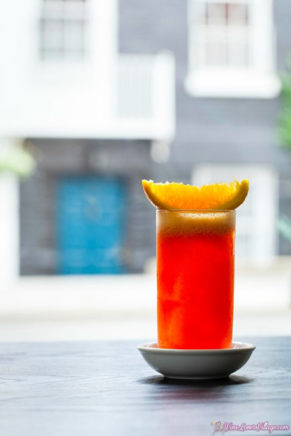 Try this simple but healthy cocktail recipe, Garibaldi, by Naren Young for Dante.
