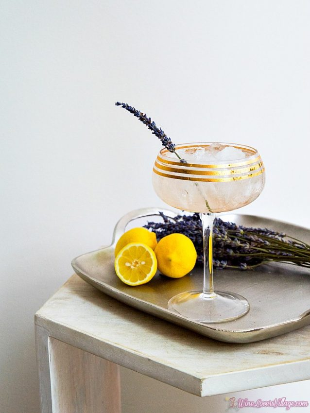 Lavender Lemon Sparkler, classic gin meets refreshing garden inspired cocktail.