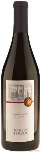 Baron Herzog Pinot Noir: Served at 65 degrees for red wine summer sipping