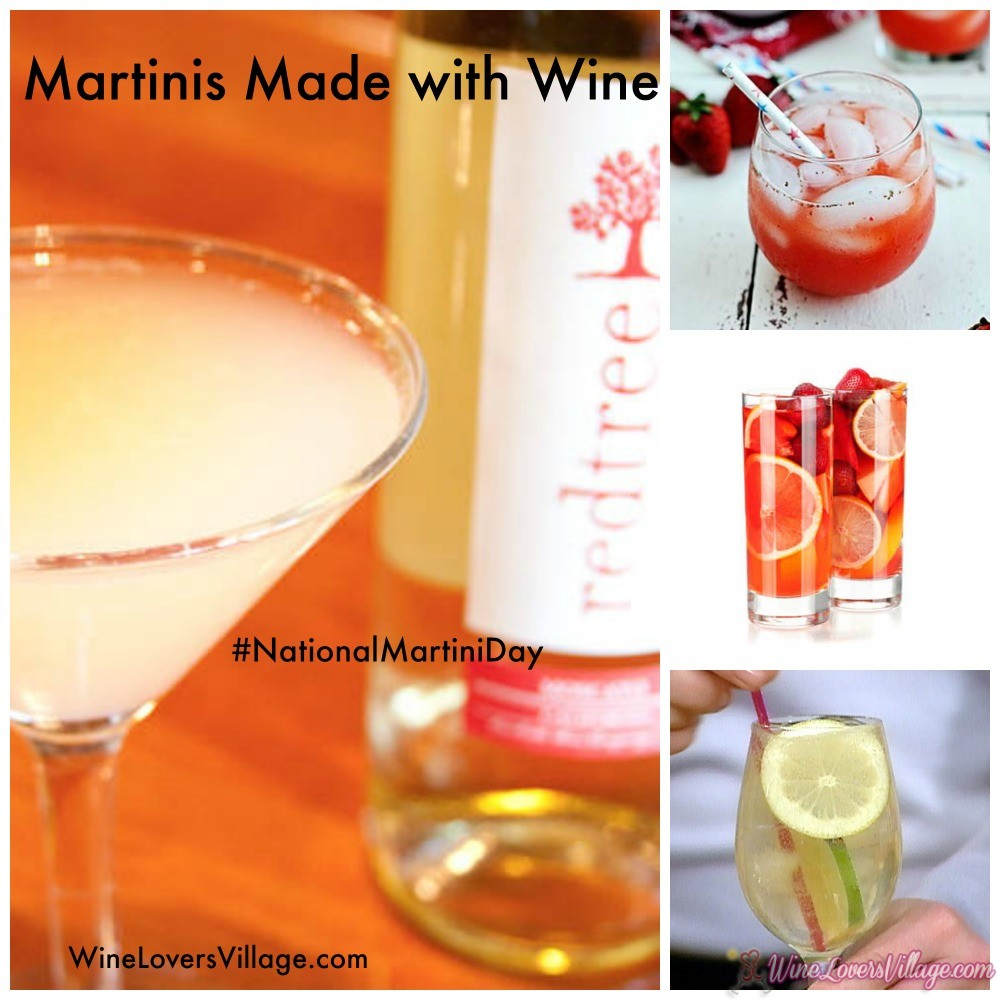 Martinis made with Wine