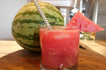 The perfect pairing Watermelon and Tito's Vodka for a refreshing summer cocktail, Water-Meli Tito's Cocktail