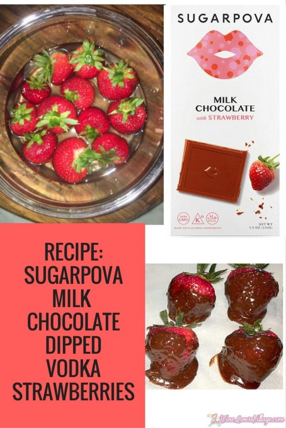Recipe: SUGARPOVA CHOCOLATE-DIPPED VODKA STRAWBERRIES