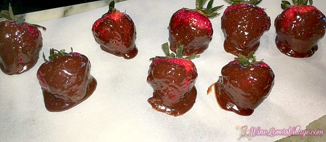 Drunken SugarPova Chocolate dipped Vodka Strawberries - Recipe WineLoversVillage.com