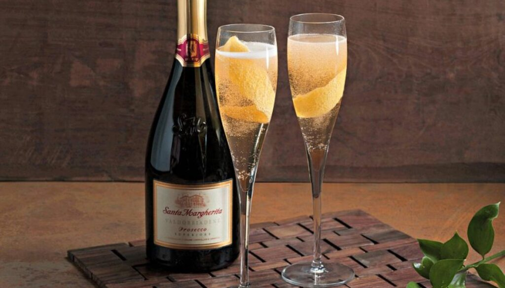 Festive Wine Cocktail Recipes for Fall - Lemon Elderflower with Santa Margherita Prosecco