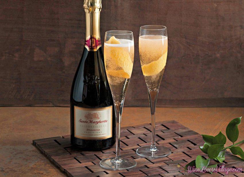 Festive Wine Cocktail Recipes- Lemon Elderflower with Santa Margherita Prosecco