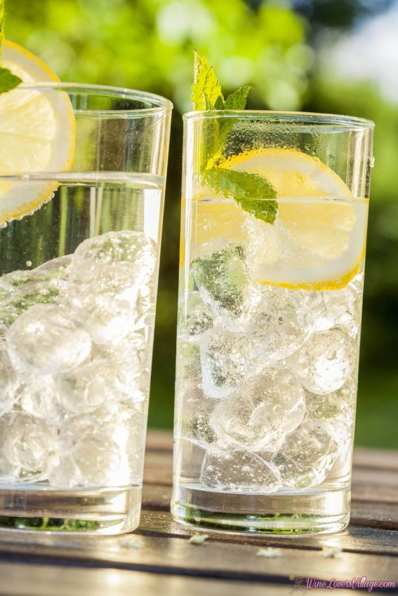 The Lemon Sipper is a low calorie, and 1 of 3 recipes for healthy mocktails at WineLoversVillage.com