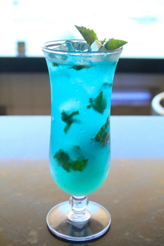 Oh so pretty, let's taste the Blue Mojito Photo & Recipe Barceló Puerto Vallarta