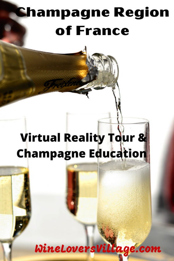 Champagne Region of France – Virtual reailty Tour & Champagne education -Taste at Home #winetasting #virtualwinetasting #champagnetasting #virtualchampagnetasting #wineloversvillage #champagne
