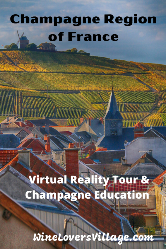 Visit the Champagne Region of France with this Virtual reailty Tour & learn more about Champagne to Taste at Home #virtualtour #champagneregionoffrance #virtualchampagneregionoffrance #wineloversvillage
