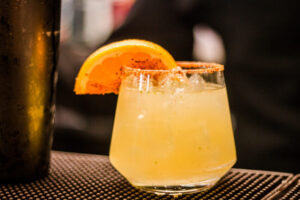 Travel the world and order from JW Marriott Cancun's more than 150 margarita menu including this mezcalina.