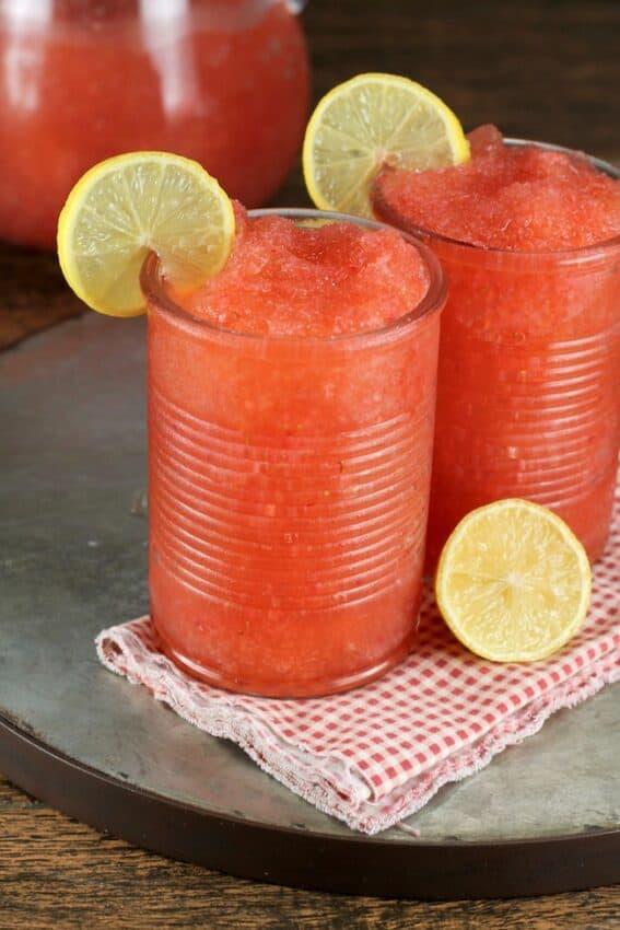 Strawberry Lemonade Moscato Slushie