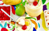 Mango Lychee Wine Slushies with Ginger Photo credit: Living Sweet Moments