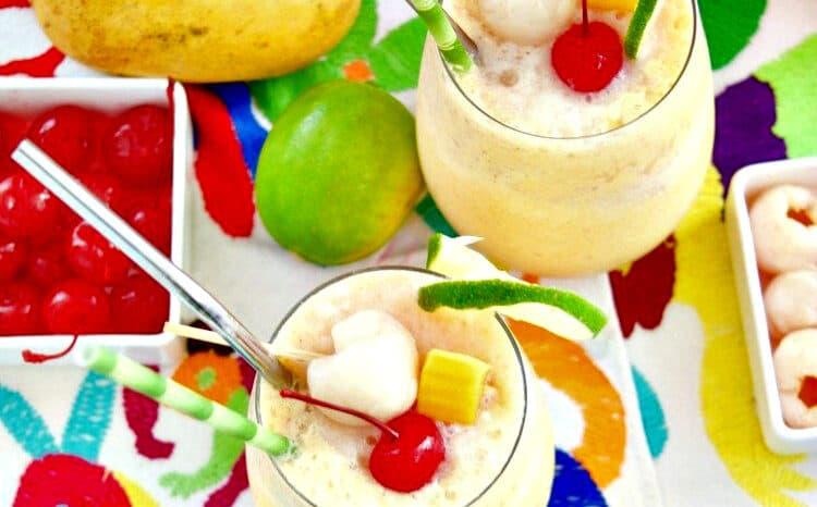 Mango Lychee Wine Slushies with Ginger Photo credit: Living Sweet Moments