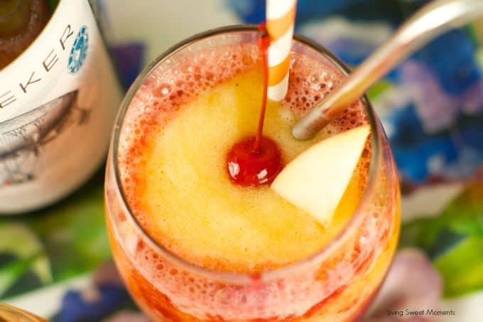 Resiling Peach and Cherry Slushies