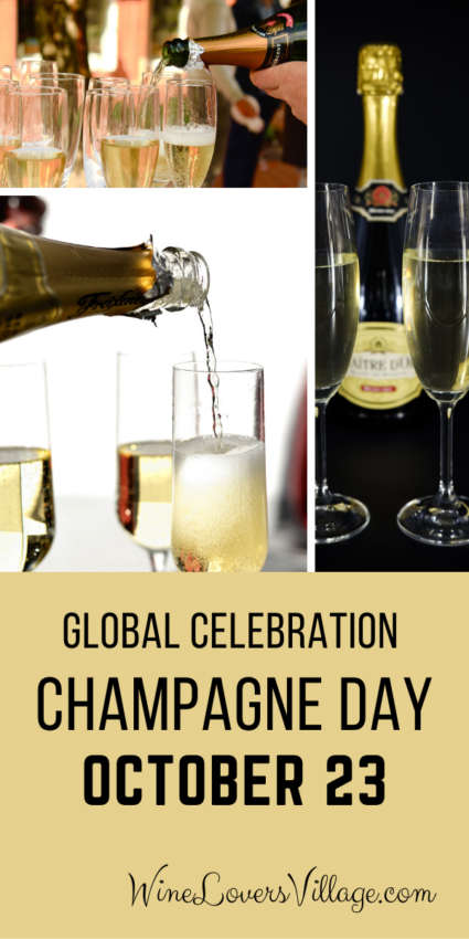 Join the global celebration of #champagneday on October 23, 2020 -- and every day cheers to #champagne #nationalwineday #nationalchampagneday #wineloversvillage