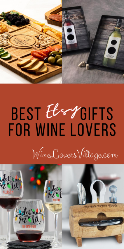 Best gifts for wine lovers from Etsy #winelovers #giftsforwinelovers #wineloversgifts #personalizedgifts #winegifts #wineloversvillage