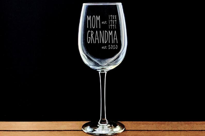 Personalized wine glasses are the perfect gift for your favorite wine lover. Photo: Etsy