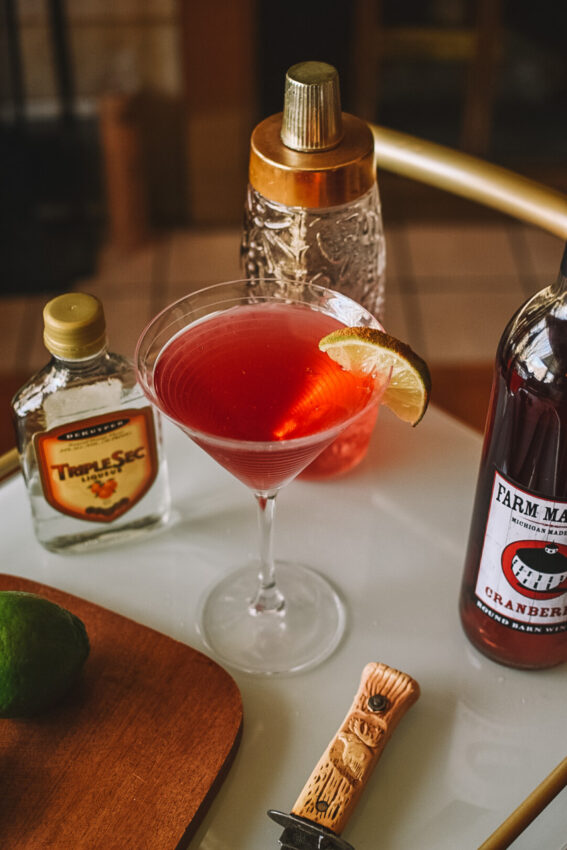 Valentine's Day Cocktail Recipes: Cranberry Cosmo Cocktail