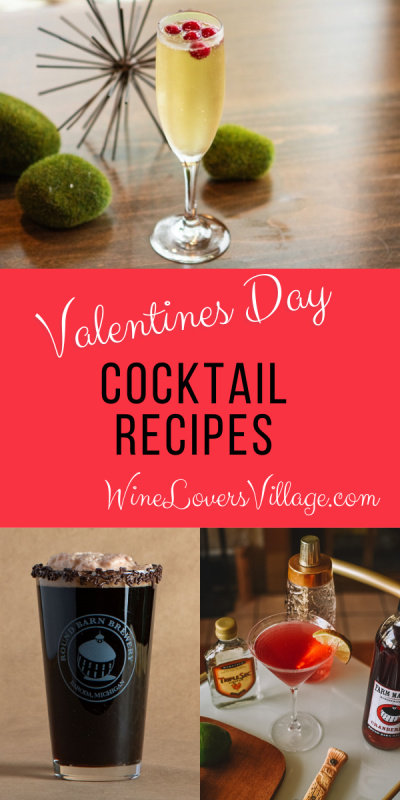 Valentine's Day Cocktail Recipes #valentinesdaycocktailrecipes #cocktailrecipes #wineloversvillage